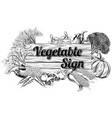 vintage vegetable produce sign vector image vector image