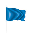 waving the blue flag on a white background vector image vector image