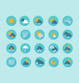 weather flat icons interface infographic elements vector image vector image