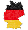 Map of Germany 1 vector image
