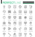 modern education thin line web icons set online vector image