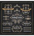 Vintage nautical rope frame labels set vector image