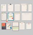 notebook templates set vector image