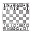 a game of chess vintage vector image