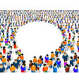 a group people shaped as a chat icon isolated vector image vector image