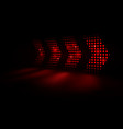 abstract red light arrows speed background vector image