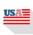 american flag design vector image vector image