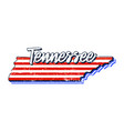 american flag in tennessee state map grunge style vector image
