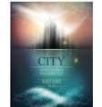 banner for business with city and reflection vector image vector image