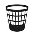 black and white trash can silhouette vector image vector image