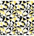 black and yellow triangles abstract vector image