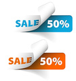 Blue and orange sale coupons 50 discount vector image