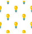 broken yellow lightbulb pattern flat vector image vector image