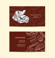 business card template for butchers shop vector image