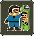 Cartoon snowboarder vector | Price: 1 Credit (USD $1)