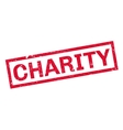 Charity rubber stamp vector image