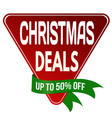 christmas deals label or sticker vector image vector image