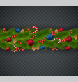 christmas decoration from christmas tree branches vector image vector image