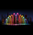 city water lighting show vector image