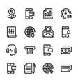 collection 3 set icons banks money black color vector image vector image