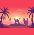 colourful a sunny beach vector image