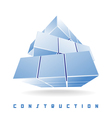 construction cube vector image vector image