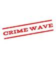Crime Wave Watermark Stamp vector image vector image