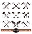 Crossed Work Tools vector image vector image