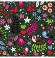 cute birds flowers stars and hearts pattern 3 vector image vector image