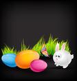cute rabbit vector image vector image