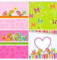 Cute Scrapbook Butterfly Backgrounds vector image vector image