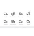 delivery track icons set track loading vector image