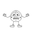 despair emoticon sketch vector image