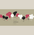 ethnic abstract flowers banner template vector image