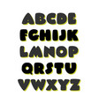 extra bold comic style font alphabet vector image vector image