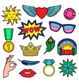 Fashion Patches Set vector image