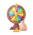 fortune wheel of luck automatic gambling machine vector image vector image