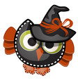 funny witch owl with contours in the form of vector image vector image