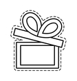 gift box ribbon parcel shopping open cut line vector image vector image