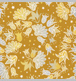 gold silver flowers seamless repeat floral vector image vector image