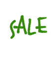 green grass sale text isolated white background vector image