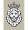 head of a lion with a crown vector image