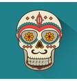 icon day of the dead mexican design isolated vector image