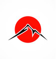 japan mountain fuji abstract logo vector image vector image