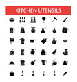 kitchen utensils thin line icons vector image vector image