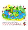 logic puzzle game math education for young vector image vector image