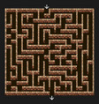 maze 3d labyrinth with brick stone walls