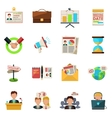 Meeting icons flat vector image vector image