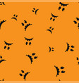 melancholy face halloween pattern seamless color vector image