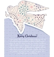 Merry Christmas card with angel vintage vector image vector image